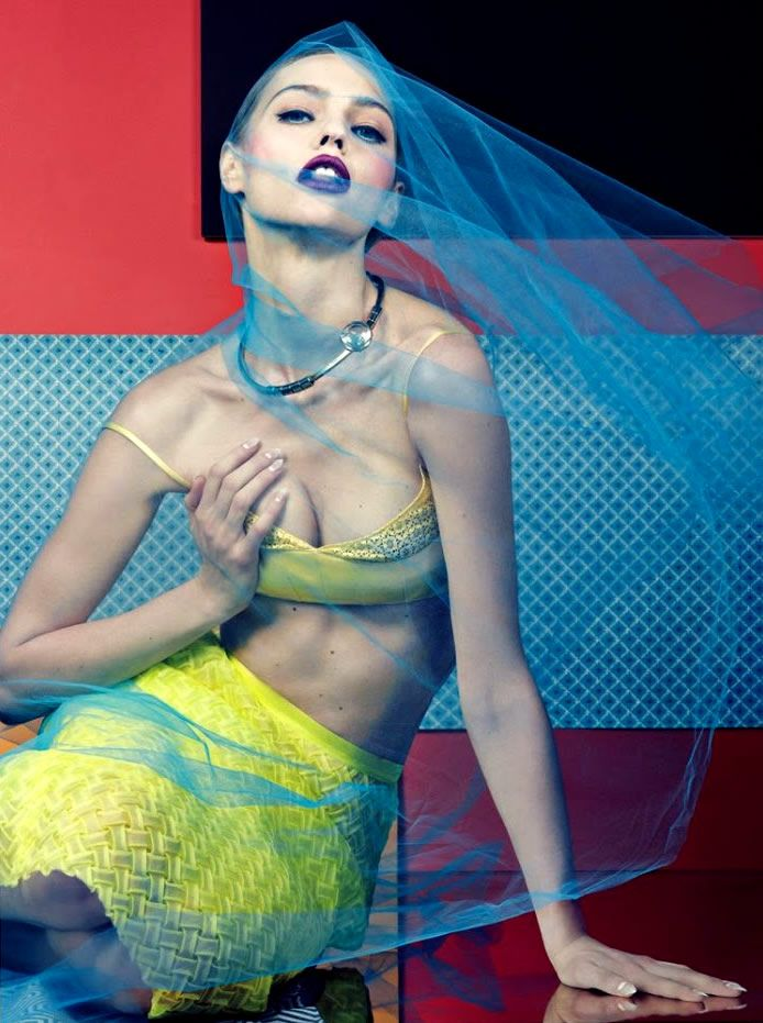 Veiled Lingerie-Inspired Fashion : Interview Magazine 'Seduction'