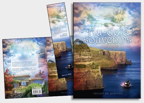 Notre cliente est l'auteure d'un recueil de poèmes qui évoque la nostalgie et le fantastique. Pour sa couverture, nous avions juste une description de maison en haut d'une falaise donnant sur la mer, un piano flottant et l'aperçu du paradis dans le ciel. Le défi a été relevé, tout en photomontage. #coverbook