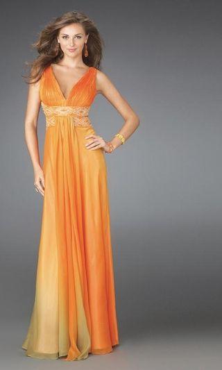 Beach Wedding Dresses with Color | New Wedding Fashion: Orange Wedding Dress