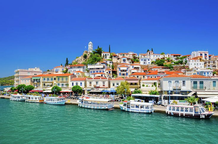 Jane Star Photograph - Beautiful View On Greek Island Poros by Jane Star  #JaneStar #Greece #IslandPoros #ArtForHome #InteriorDesign #HomeDecor