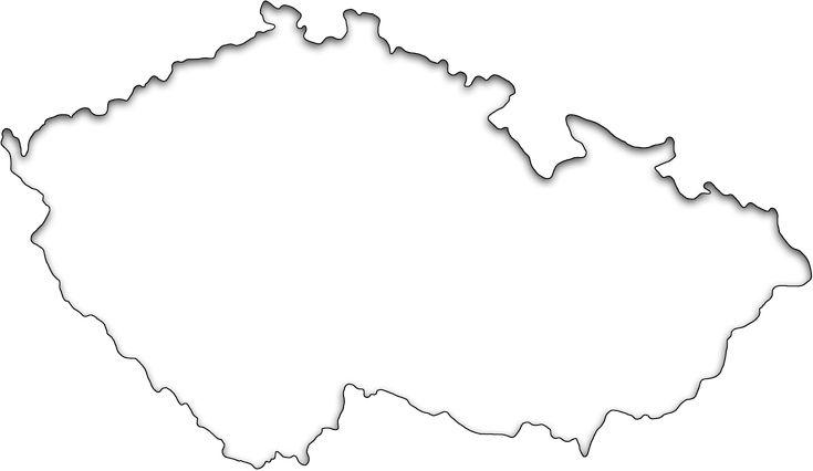 Slepá mapa Česka - geografická pomůcka pro školy nebo pro zábavu