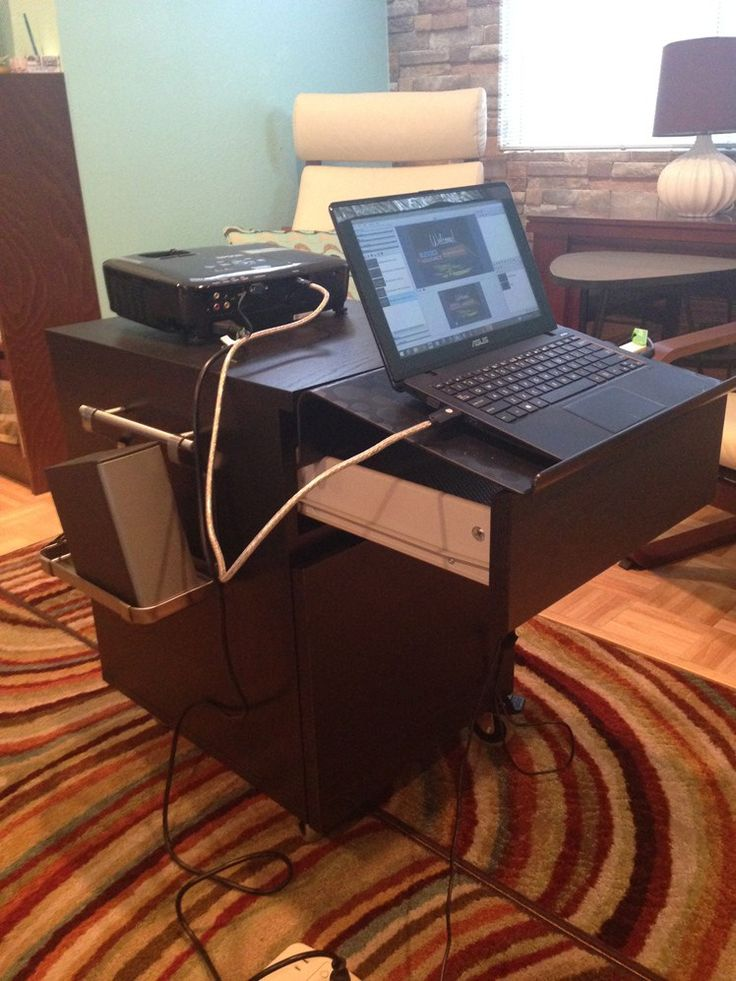 Malm Nightstand morphs into mobile projector station - IKEA Hackers