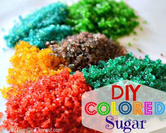 Do It Yourself: Colored Sugar Recipe. For more baking fun or as a Plan B.