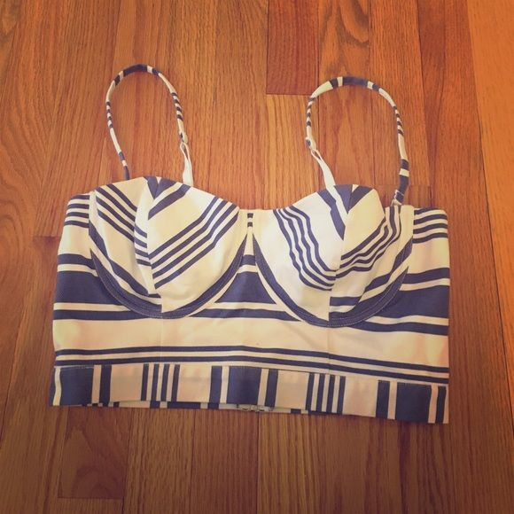 Victoria's Secret Crop Top Blue and white crop top. Adorable for a day at the beach! No tags, but never worn! Victoria's Secret Tops Crop Tops