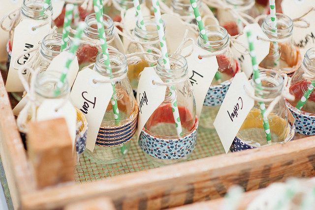 Empty Snapple Jars can be cups AND escort cards!