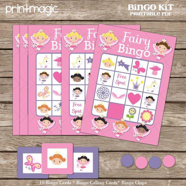 Princess Bingo Printable Party Game - Printable PDF - Instant Download - Princess Birthday Party Game - Fairy Birthday Party Game by printmagic on Etsy https://www.etsy.com/listing/183212957/princess-bingo-printable-party-game