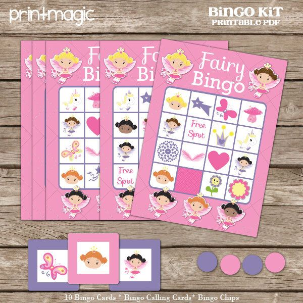 Princess Bingo Printable Party Game - Printable PDF - Instant Download - Princess Birthday Party Game - Fairy Birthday Party Game by printmagic on Etsy https://www.etsy.com/listing/183212957/princess-bingo-printable-party-game
