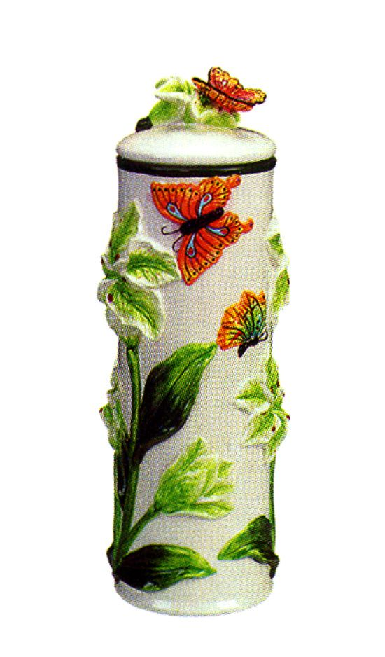 Butterfly Kitchen Decor Themes Butterfly 3 D Spaghetti Jar Canister 4428 3d Butterfly Collection Fine