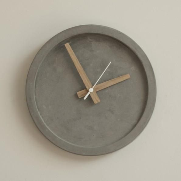 Grey Concrete Wall Clock by Wild + Wood on Oates & Co.