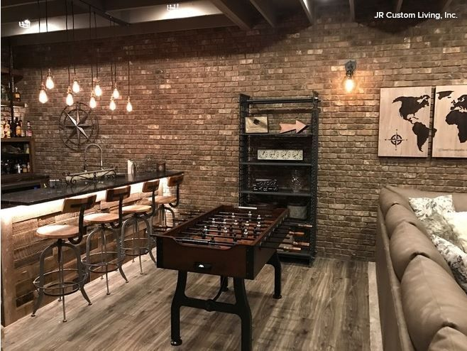 Industrial Styled Entertainment Space | JR Custom Living Inc ...