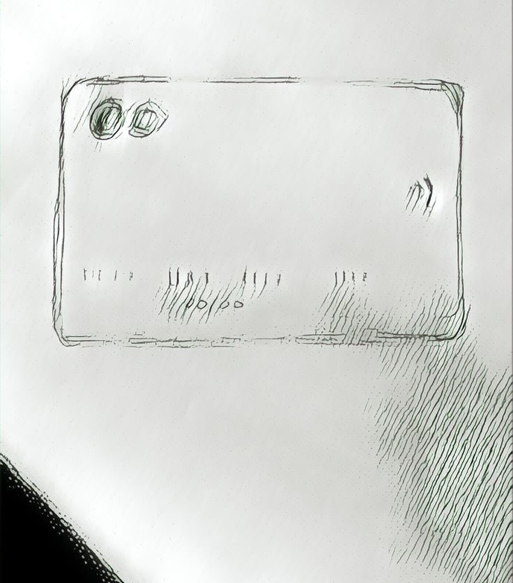 A drawing of a credit card