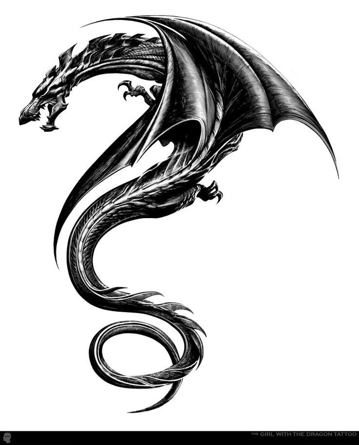 Tribal Dragon Tattoo Design #dragon #tattoos #tattoo                                                                                                                                                                                 More