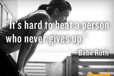 Its hard to beat a person who never gives up quotes quote fitness workout motivation never give up