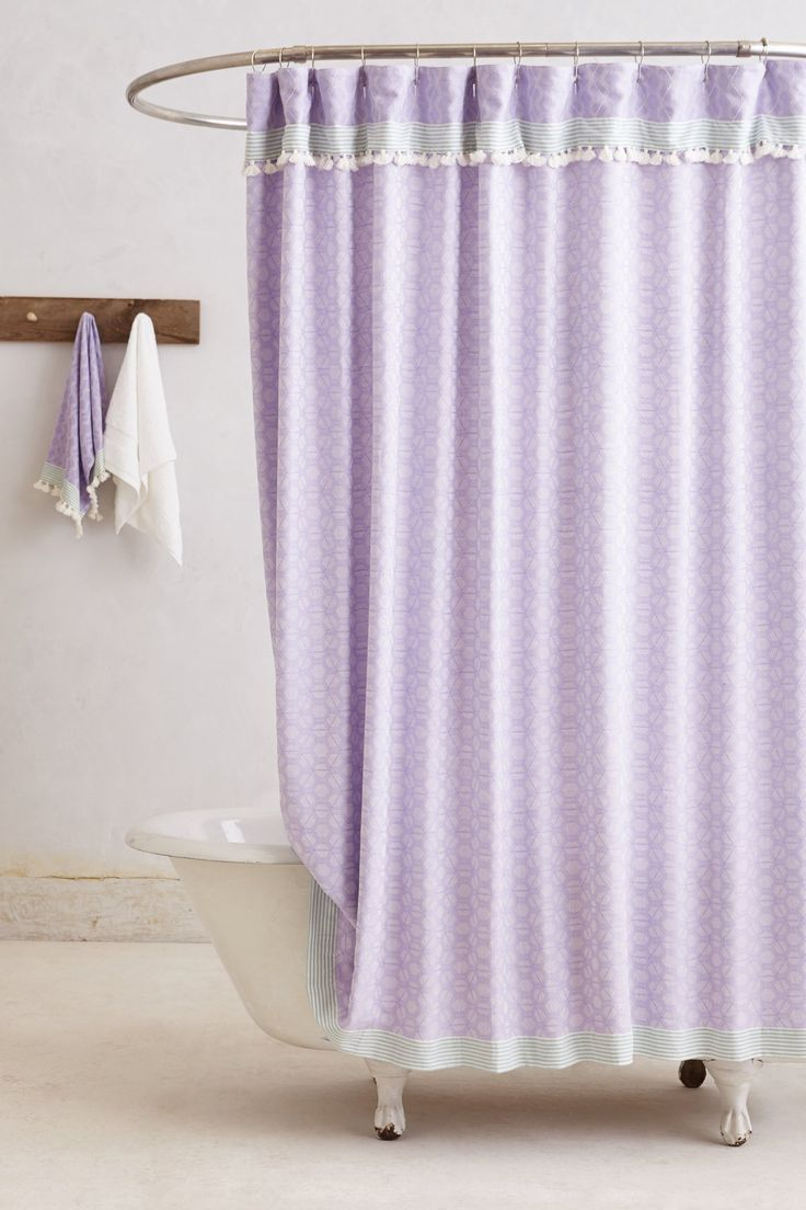 Purple And Green Shower Curtains