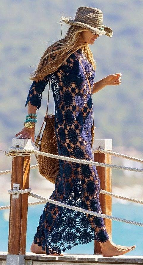 crochet beach dress Tutorial for Crochet, Knitting... Keka❤❤❤