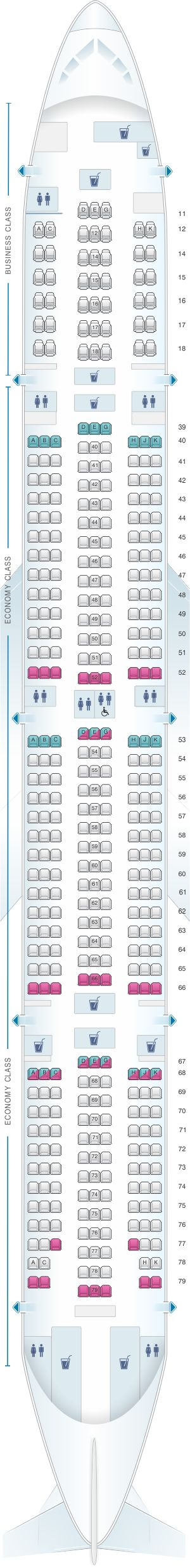 Seat Map Cathay Pacific Airways Boeing B777 300 (773)