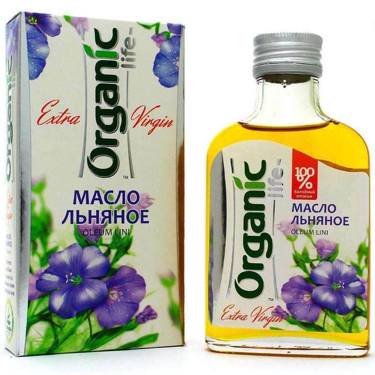 Льняное масло «Organic life» для сердца и сосудов, 100 мл