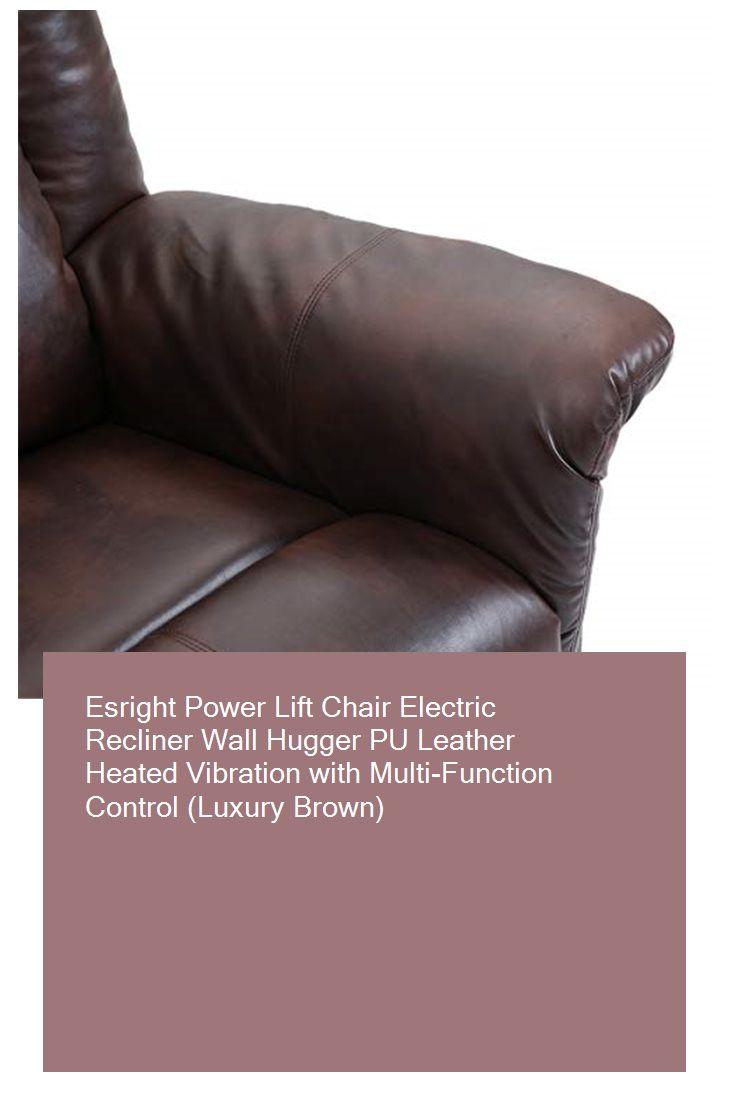 Esright Power Lift Chair Electric Recliner Wall Hugger Pu