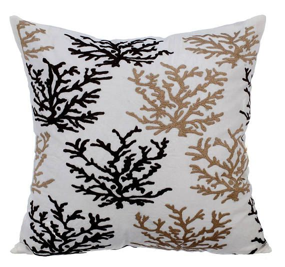 Brown Pillow Covers Sea Theme Pillows Accent Couch