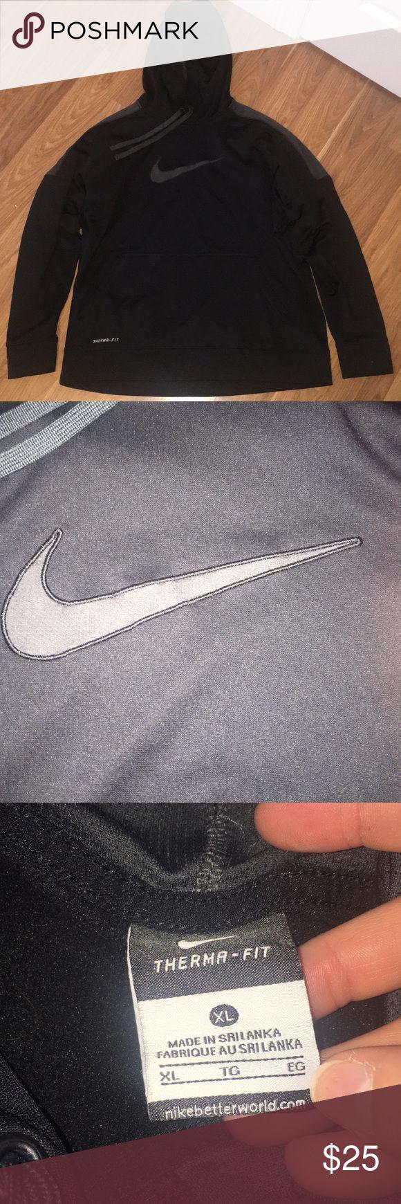 Black and Grey Nike Hoody Black and grey Nike Hoody barely worn Nike Jackets & Coats