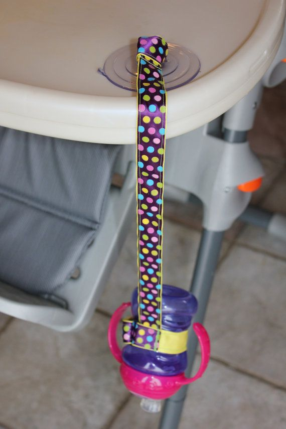 Stop the Sippy Drop Game! Suction Sippy Strap by ChunksBabyJunk, $9.00