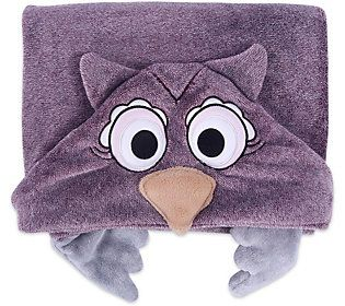 Berkshire Blanket Cuddly Buddy Plush Hooded Character Throw