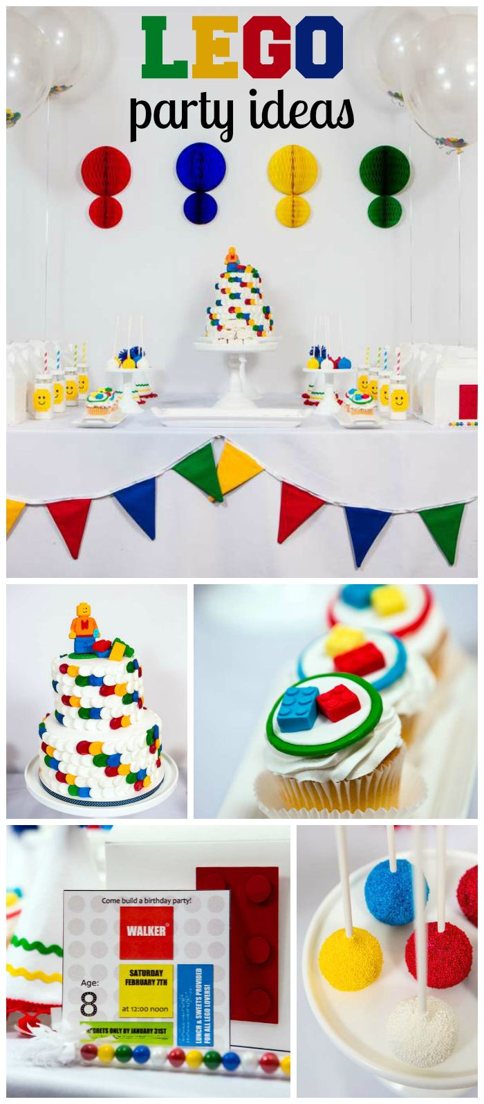 How cool is this Lego birthday party with a modern twist?! See more party ideas at CatchMyParty.com!