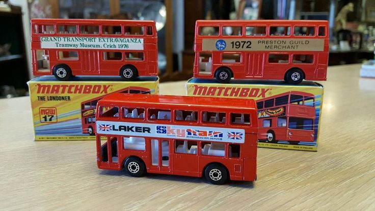 Two Matchbox 17 1972 Londoner Superfast Buses Mint in Boxes & 1982 London Bus | eBay