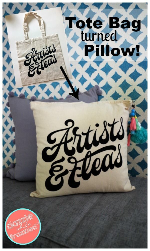 How To Make A Decorative Pillow From A Tote Bag Diy Throw