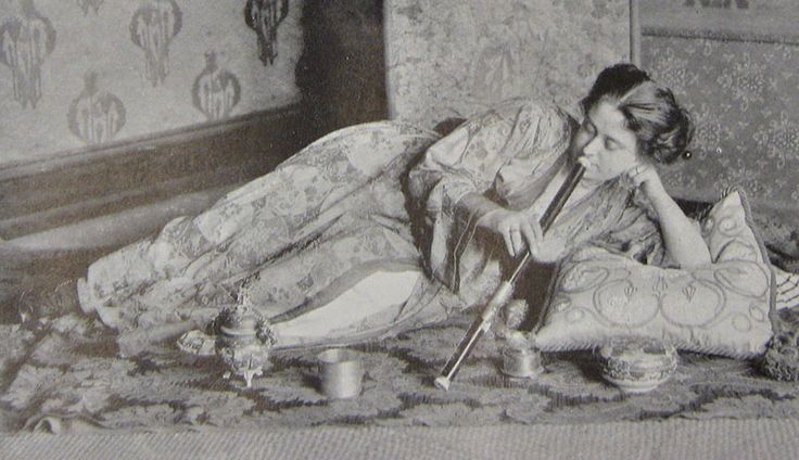 images of opium smoking | 1909 Caucasian female opium smoker, from the Illustrated London News ...