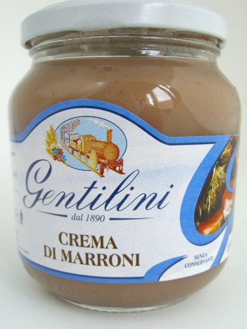 Crema di Marroni. The delicate taste of Gentilini Cream of Chestnut is good enough to be enjoyed any time. Is are sublime when accompanied with our Fette Biscottate. A really rich choice that caters to the most demanding with a wide range of products, that nature generously preserves even after the cooking process.