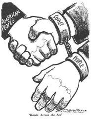 hier gaat het om dat er vrede wordt gesloten maar zo dat de Sovjet Unie er wat voor moet doen.