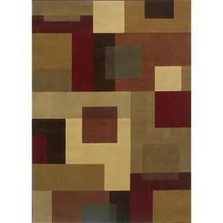 Indoor Geometric Red/ Tan Rug (9'10 x 12'9) | Overstock™ Shopping - Great Deals on Style Haven 7x9 - 10x14 Rugs