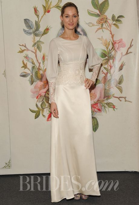 Brides: Claire Pettibone - Spring 2014 | Bridal Runway Shows | Wedding Dresses and Style | Brides.com