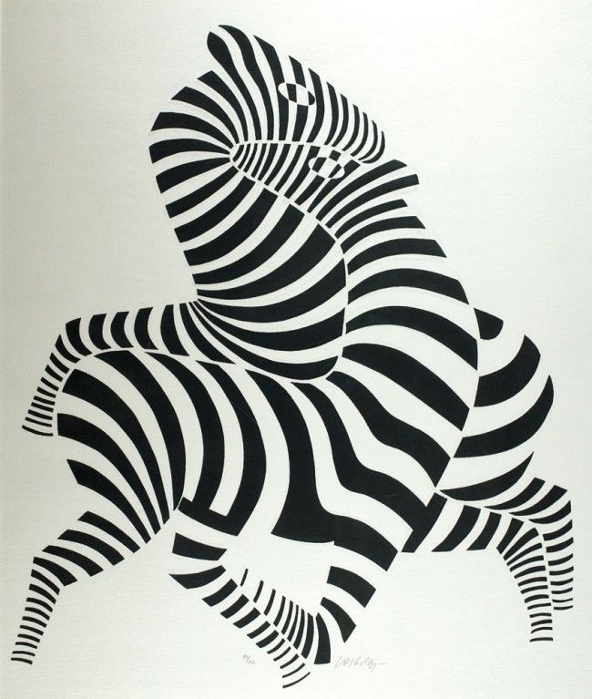 Victor Vasarely - A good way to teach students about the use of line to create volume.