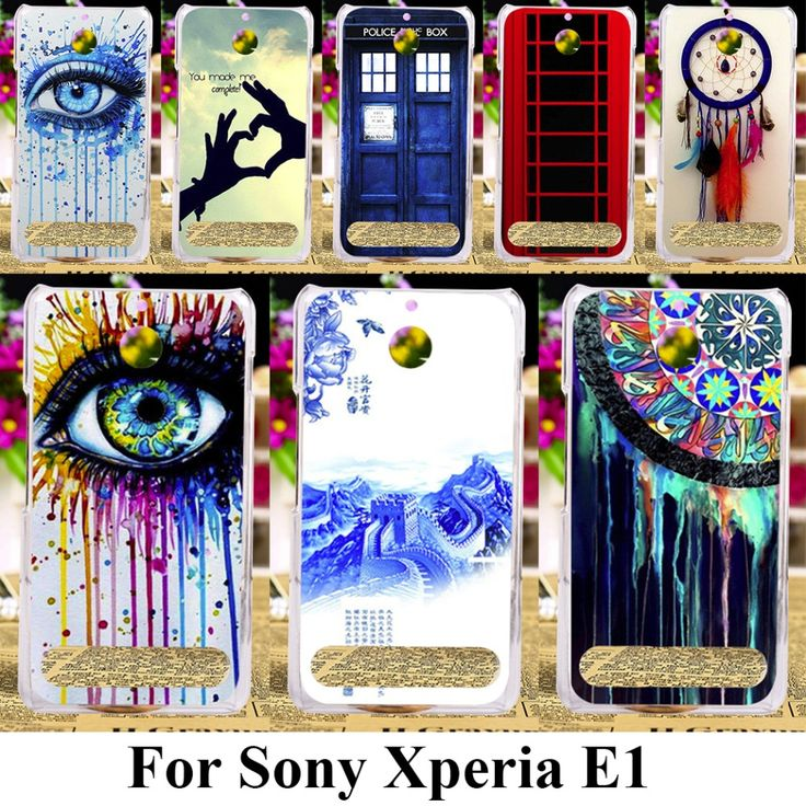 Hard Plastic Painted Cases For Sony Xperia E1 D2004 D2005 E1 Dual D2104 D2114 D2105 4.0 inch Dreamcatcher Telephone Booth Letter #Affiliate