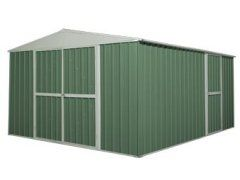 Workshop Shed 3.45m x 4.3m x 2.1m Dark Green