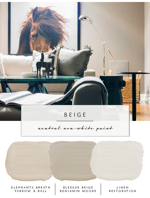 Our the coco kelley Guide to the Best Neutral Paint Colors that AREN'T White | Beige