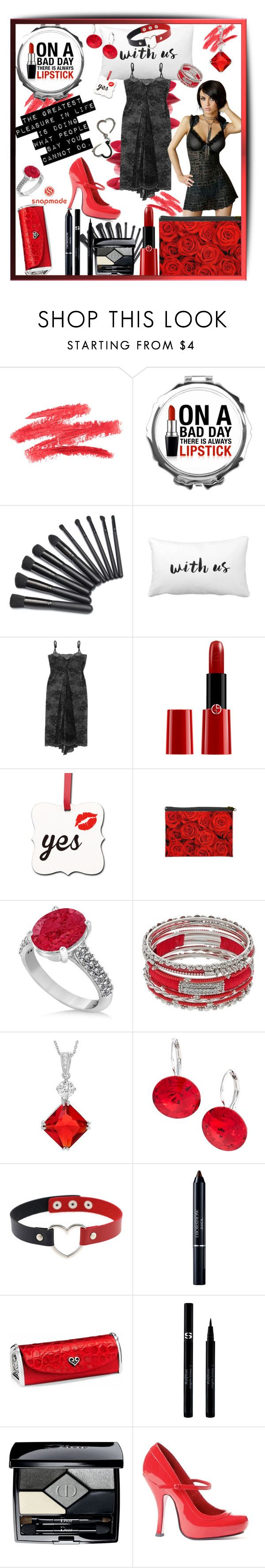"""""""Snapmade"""" by tempestaartica ❤ liked on Polyvore featuring Rossetto, Cosabella, Giorgio Armani, Allurez, Journee Collection, L. Erickson, Christian Dior, Brighton, Sisley and Buy Seasons"""