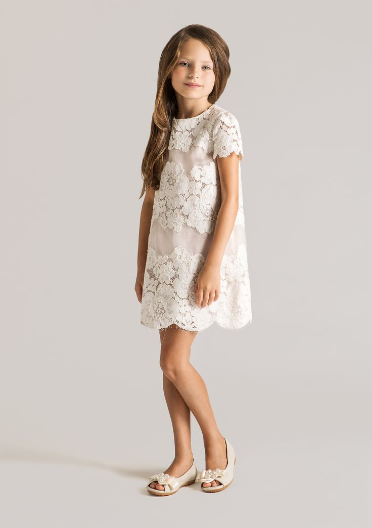 Beautiful lace dress from #Papiliokids latest collection, available in white, pink and purple.