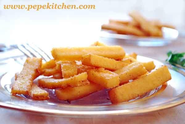 Receta de polenta frita, una guarnición original