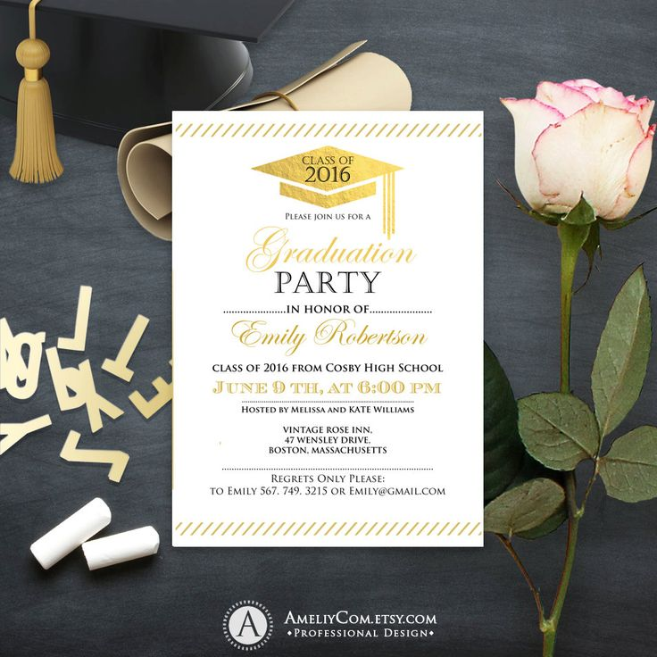 Best 25+ Graduation Invitation Templates Ideas On Pinterest