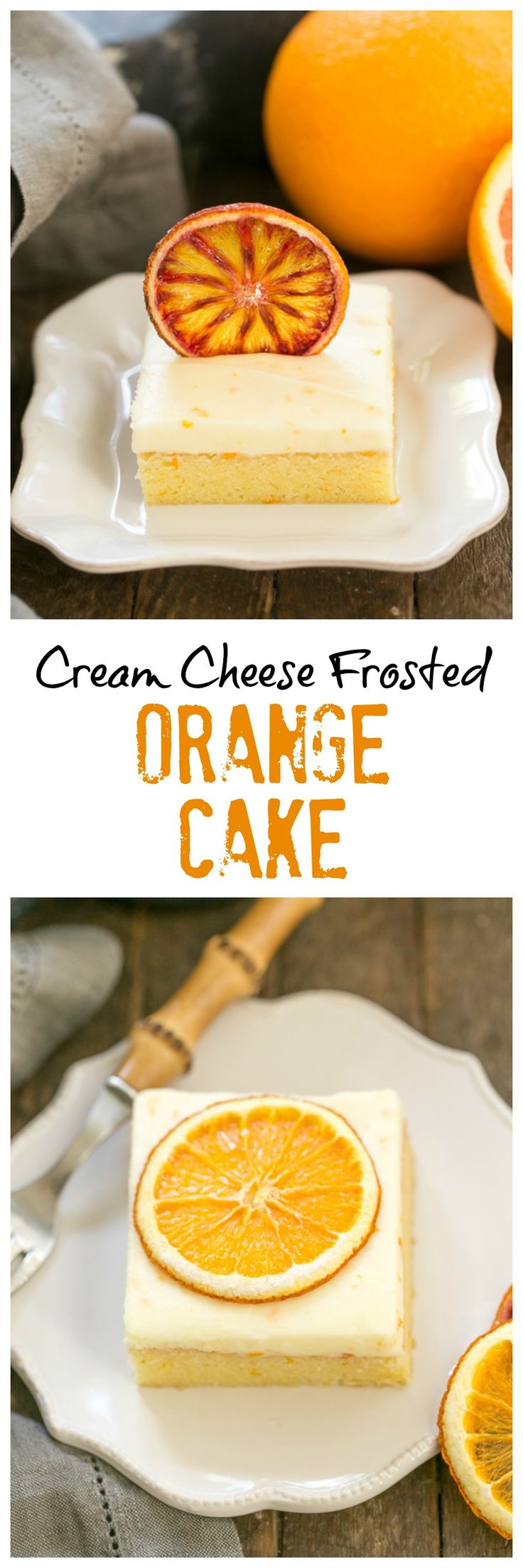 Orange Cake | An exquisite orange cake with cream cheese frosting @lizzydo