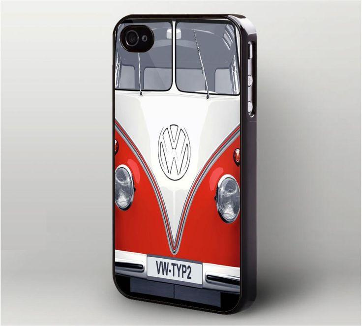 Vintage VW Volkswagen Red Typ2 iPhone 4 Case,