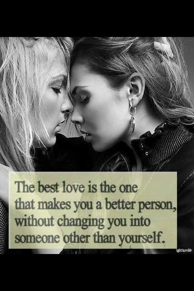 She made me a better person.So I made her my wife.;)