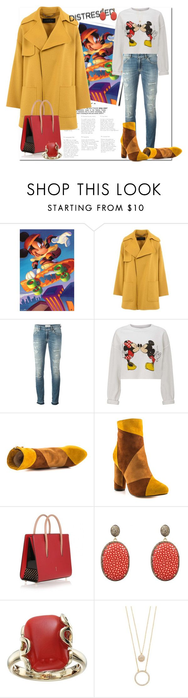 """""""True Blue: Distressed Denim_Fun with Distresed Denim"""" by msmith801 ❤ liked on Polyvore featuring Barbara Bui, Faith Connexion, Miss Selfridge, Cape Robbin, Christian Louboutin, Latelita, Miseno and Kate Spade"""
