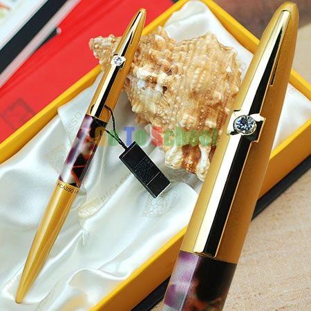 Пикассо 988 мир во всем мире золотой с капюшоном F перьевая ручка с оригинальной коробка бесплатная доставка
