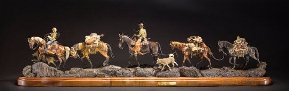Bronze sculpture Rocky Mountain Trail Partners