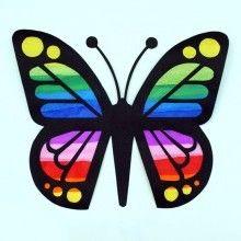 """Le printemps est là, les jours rallongent alors profitons pleinement des rayons du soleil en installant de jolis papillons """"Attrape-soleil"""" aux fenêtres."""