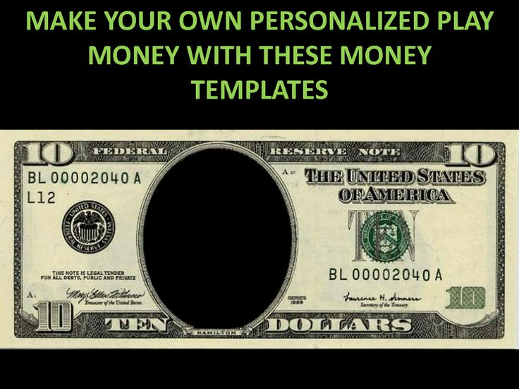 Blank Play Money Printable Free New Calendar Template Site